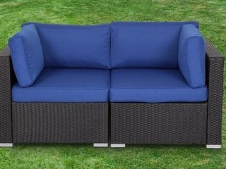 Gariau Outdoor patio rattan 2 piece corner sofa