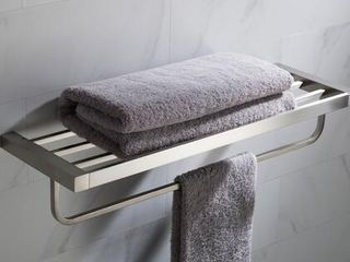KRAUS Stelios Bathroom Shelf with Towel Bar  Retail 149 94