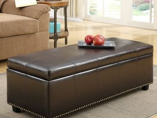 WYNDENHAll Stanford 48 inch Wide Transitional Rectangle Storage Ottoman  Retail 219 99