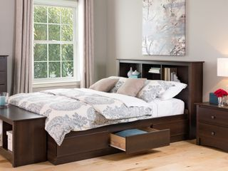 Espresso Queen Mate s 6 drawer Platform Storage Bed  Retail 403 49