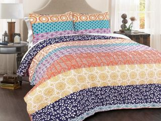 The Curated Nomad la Boheme 3 piece Boho Quilt Set   Full Queen