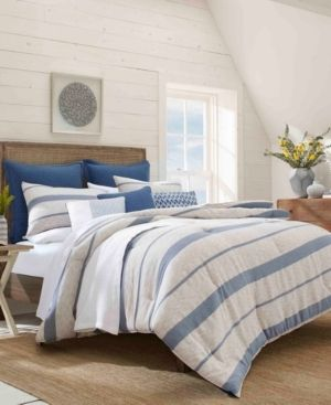 Nautica Norcross Navy Cotton Duvet Cover Set  Full Queen   Retail 83 99