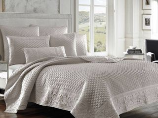 Five Queens Court Zarah Quilted Sham   Standard