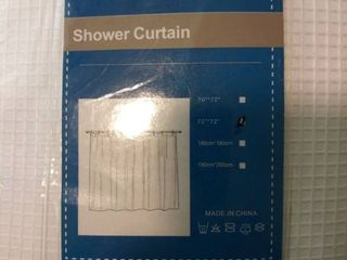 white shower curtain 72 in by 72 in