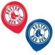 Boston Red Sox latex Balloon  6 Pack
