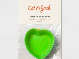 Heart Food Storage Cup Green   Cat   Jack