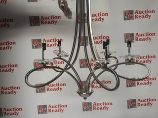 5 light Brushed Nickel Chandelier  Retail 181 99