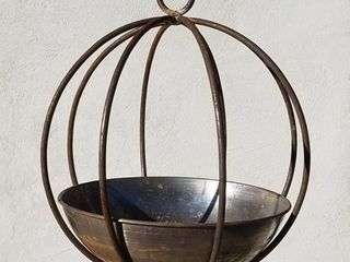 Small Hanging Rustic Globe Planter