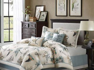 7 piece Cotton Twill Printed Comforter Set  Retail 114 99
