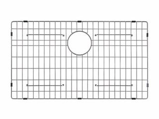 KRAUS Stainless Steel Bottom Grid with Protective Anti Scratch Bumpers