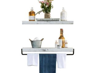 True Floating Shelf and Towel Rack