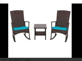 3 Piece Wicker Rocker Chair Set Retail 219 99