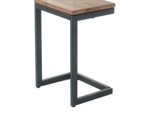 Outdoor Wood C shaped Side Table