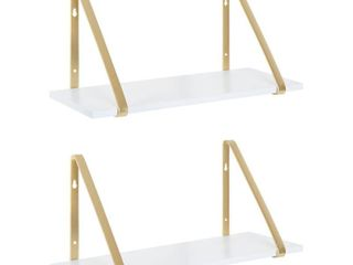 Modern Wooden Shelves   2 Piece