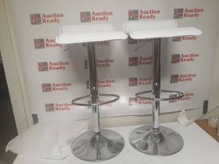 Modern Adjustable Bar Stools  Set of 2  Retail 79 98