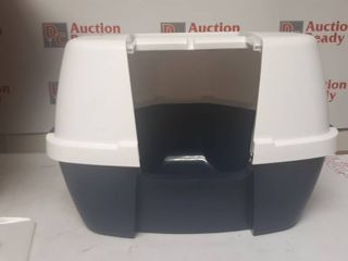 IRIS large Hooded Corner litter Box  Navy
