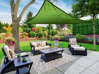 Sun Shade Sail Canopy  Triangle  Green