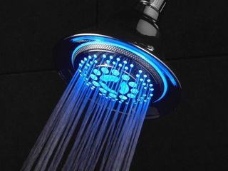 Chrome Color changing lED Shower Head