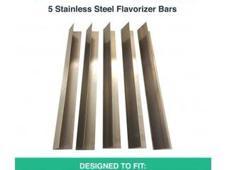 5pk Replacement long lasting Stainless Steel Flavorizer Bars  Fits Weber Grills