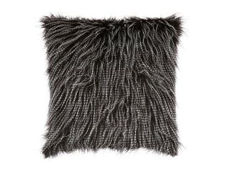 Ryley Faux Fur Black Pillow