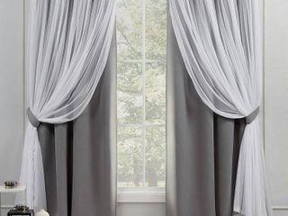 ATlayered Curtain Panel Pair with Grommet Top