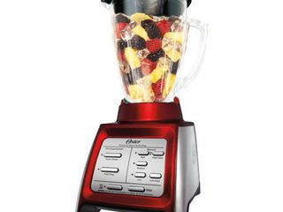 Oster BlSTRM DZR BG0 Designed for life 7 Speed Blender w  Smoothie Cup Red