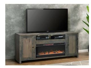 Carbon loft Rustic TV Stand w  Electric Fireplace  Retail 1491 49