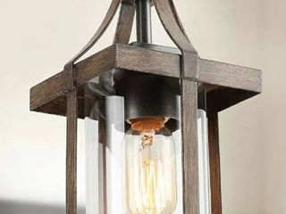 Faux Wood Chandelier with Glass Shade  Retail 108 49