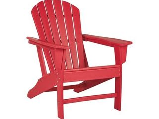 Outdoor Adirondack Chair   Red  Retail 205 99