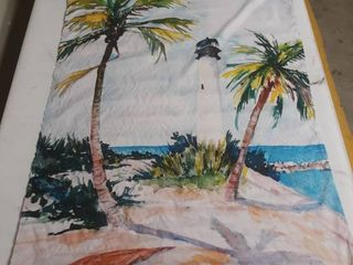 light House Palms Scroll Tapestry
