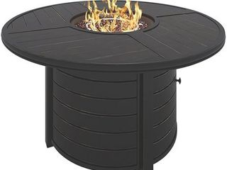 Round Fire Pit in Dark Brown