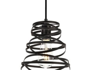 Sybil Collection Pendant D7 5 H9 2 lt 1 Matte Black Finish