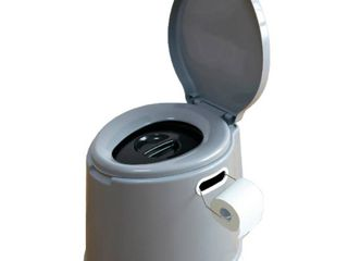 Portable Travel Toilet For Camping and Hiking   Silver