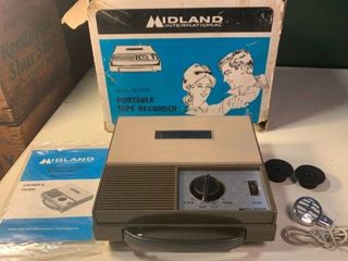 Midland International Solid State Portable Tape Recorder Works 2A