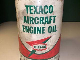Vintage 32 Ounce Can of Texaco Aircraft Engine Oil 2A