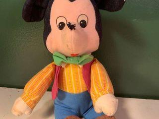 Vintage Applause Knickerbocker Stuffed Mickey Mouse Garage A1