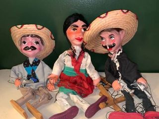 lot of 3 Marionette Puppets Garage A1