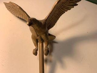 Vintage Goldtone Eagle Weathervane Flag Topper 1C