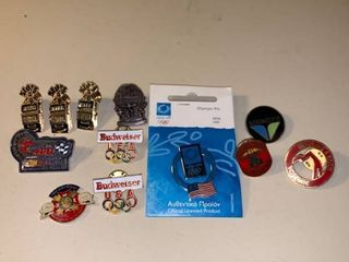 lot of 12 Pins Olympics Casinos Ski Resorts location Garage Container