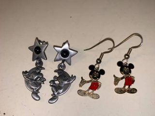 Two Pairs of Mickey Mouse Disney Earrings location Garage Container