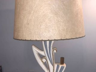 Retro lamp With Fiberglass Shade Works location Spare