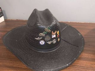 Baileys Cowboy Hat With Military Pins location Spare