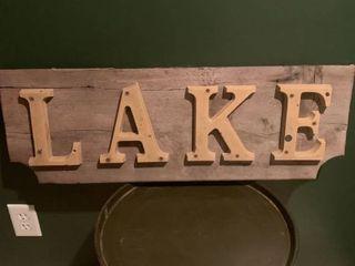 Vintage lAKE Sign location Basement