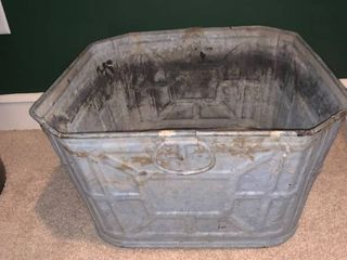 Vintage Galvanized Wash Tub location Basement