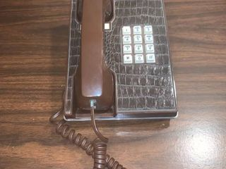 Western Electric Brown Faux Alligator Touch Tone Phone location Spare