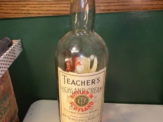 Huge Wm  Teacher and Sons Scotch Bottle location Basement