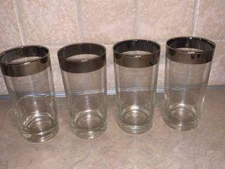 Set of 4 Retro Bar Glasses location Bar