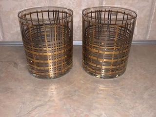 Pair of Mid Century Krosno Old Fashioned Glasses location Bar