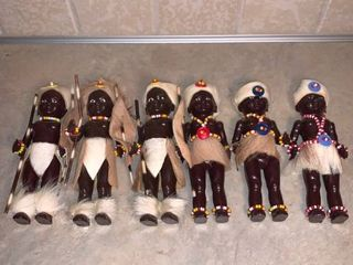 lot of 6 Vintage South African Dolls PMI location Bar