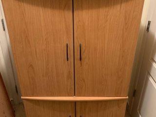 TV Armoire with Swinging Doors